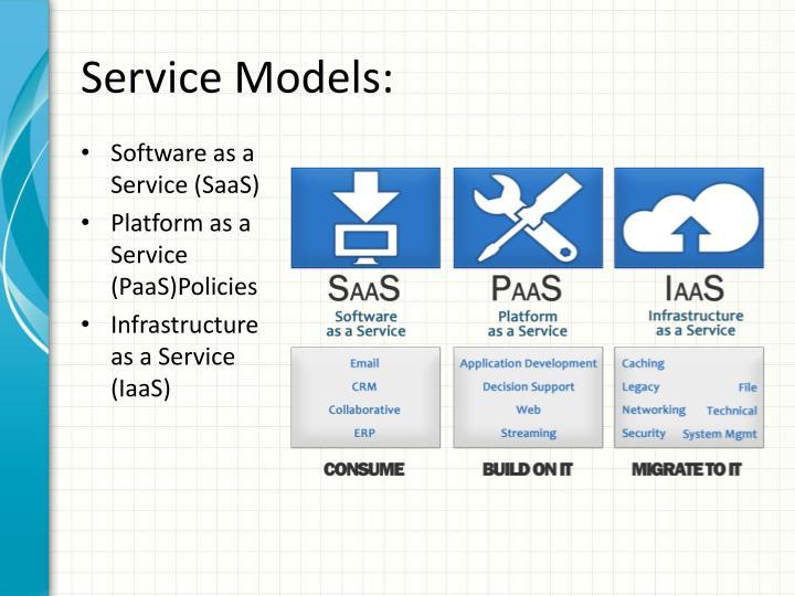 Service Models:
