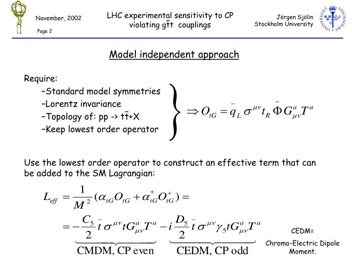 Model independent approach