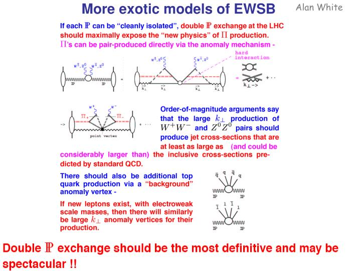 More exotic models of EWSB