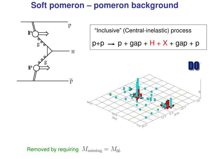 Soft pomeron – pomeron background