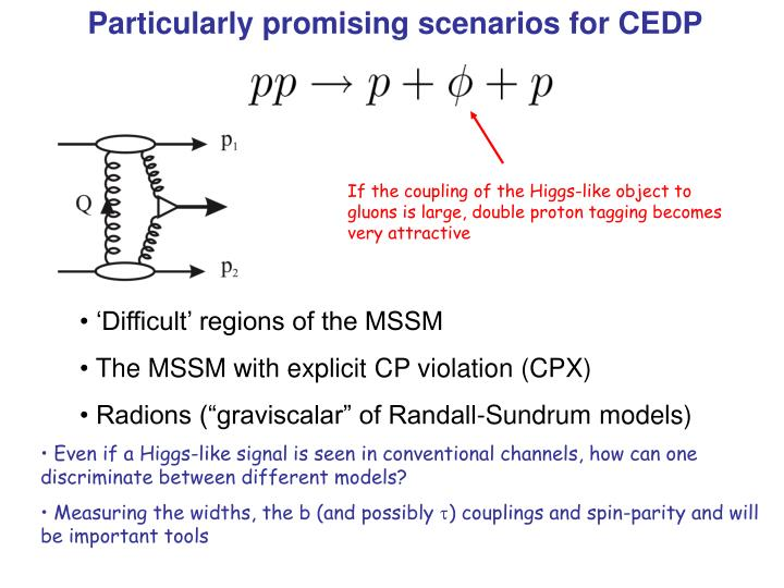 Particularly promising scenarios for CEDP