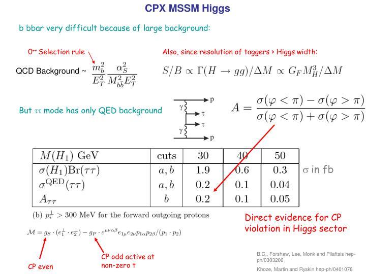 CPX MSSM Higgs