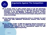 arguments against the competition1