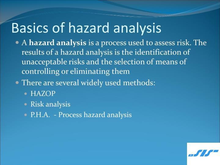 Basics of hazard analysis