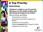 a top priority child safety