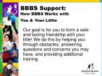 bbbs support how bbbs works with you your little