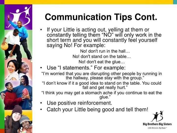 Communication Tips Cont.