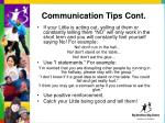 communication tips cont