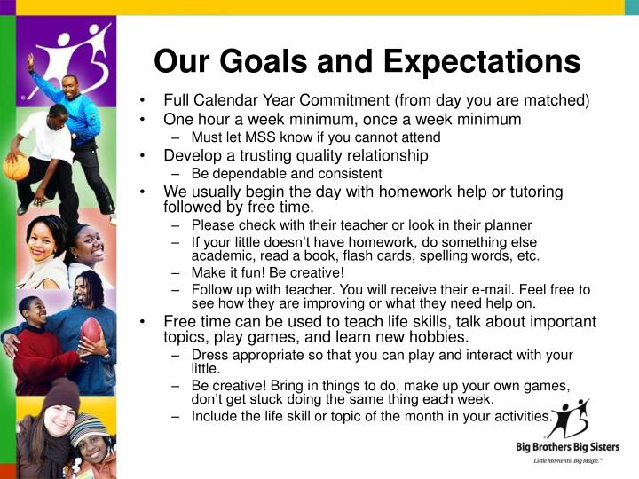 Our Goals and Expectations