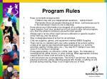 program rules