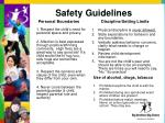 safety guidelines