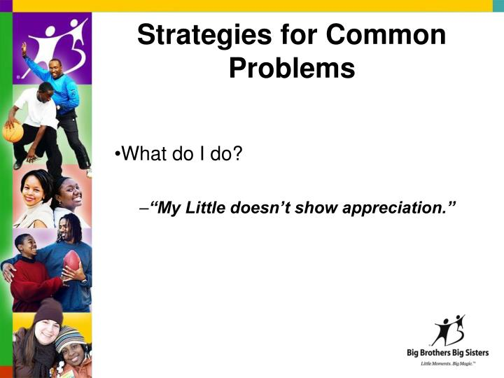 Strategies for Common Problems