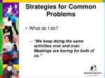strategies for common problems6