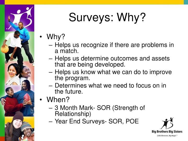Surveys: Why?