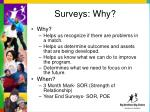 surveys why
