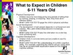 what to expect in children 6 11 years old