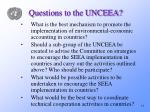 questions to the unceea