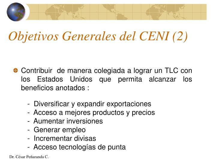 Objetivos Generales del CENI (2)