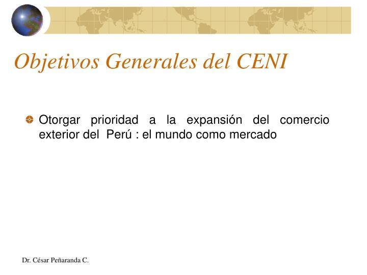Objetivos Generales del CENI