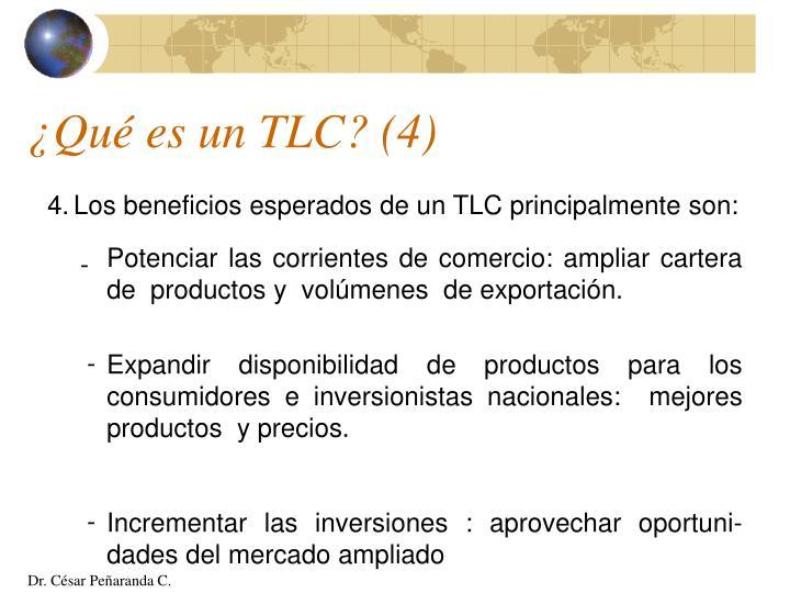 ¿Qué es un TLC? (4)