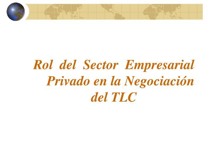 Rol  del  Sector  Empresarial