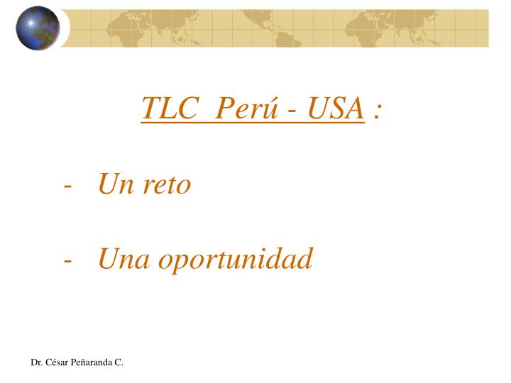 TLC  Perú - USA