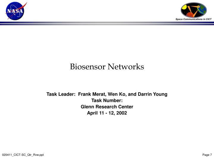 Biosensor Networks