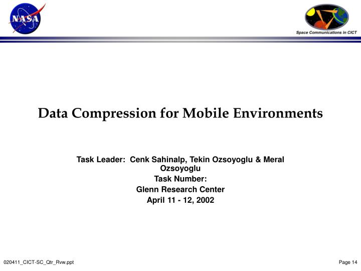 Data Compression for Mobile Environments
