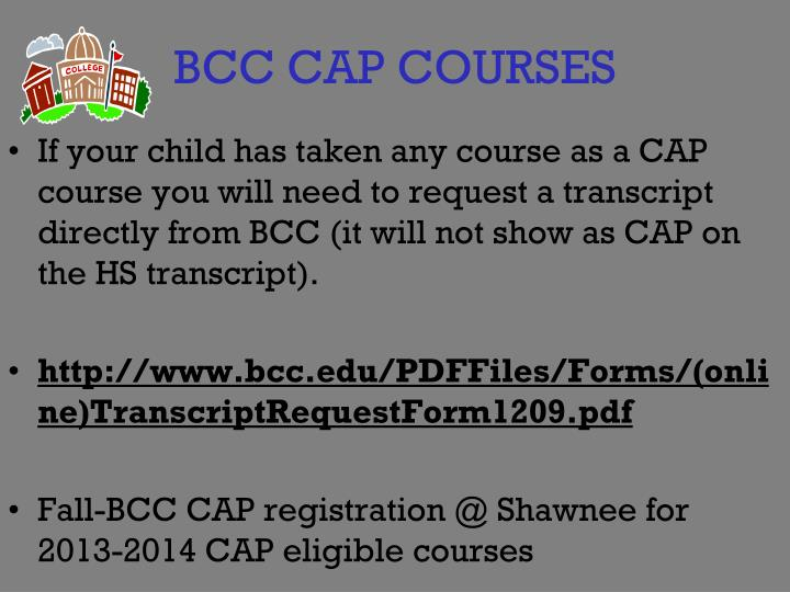 BCC CAP COURSES