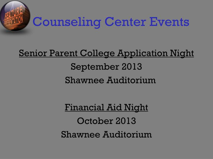 Counseling Center Events
