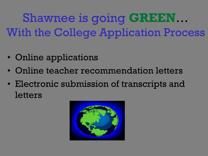 Shawnee is going