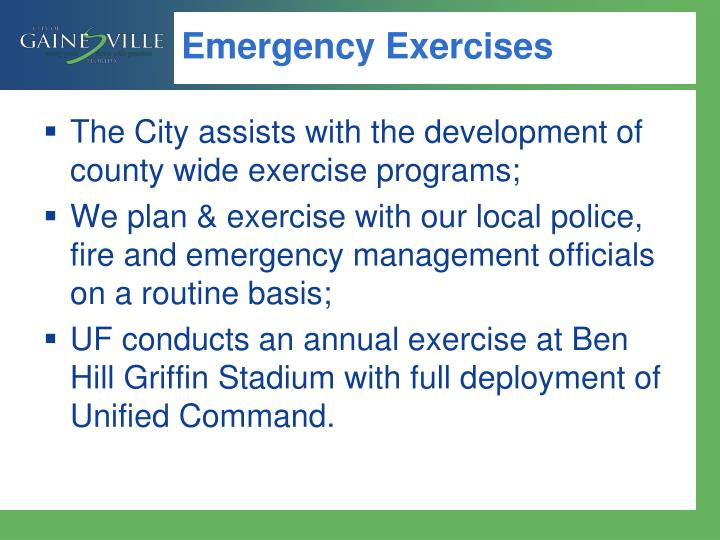 Emergency Exercises