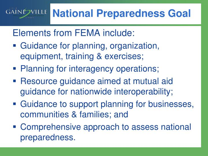 National Preparedness Goal