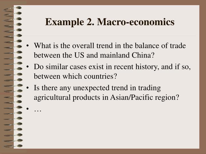 Example 2. Macro-economics