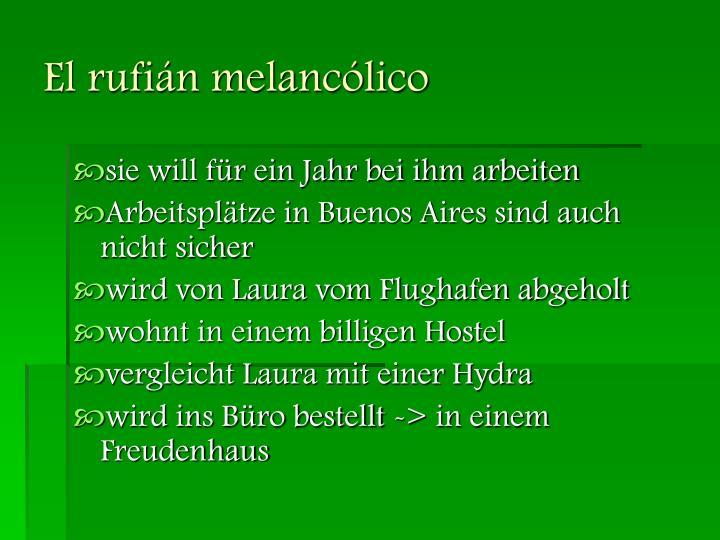El rufián melancólico