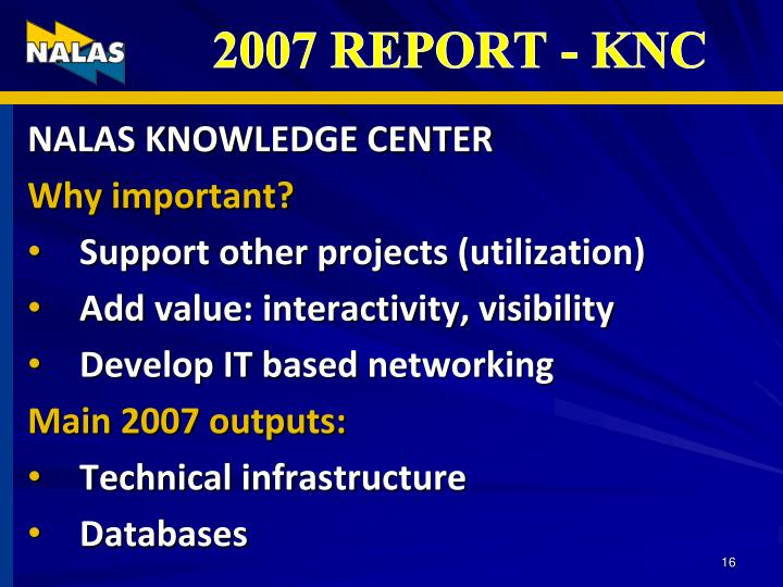 NALAS KNOWLEDGE CENTER