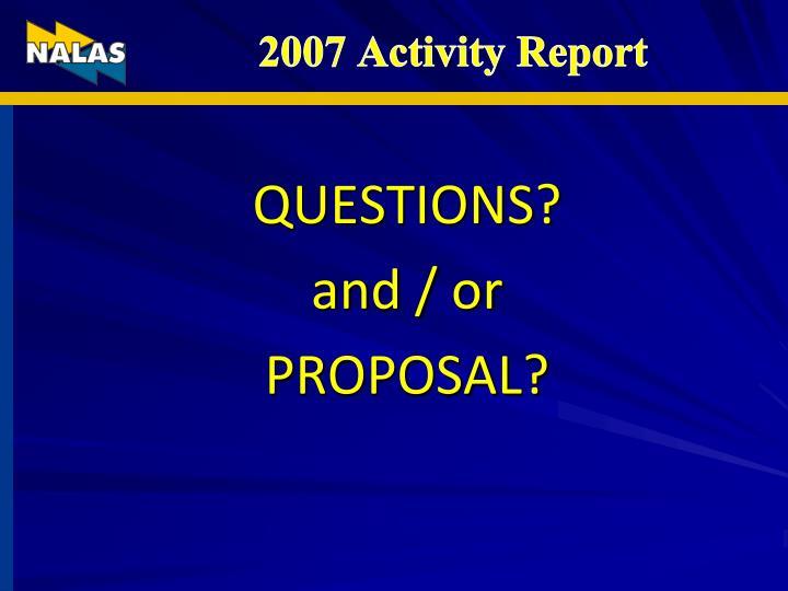 2007 Activity Report