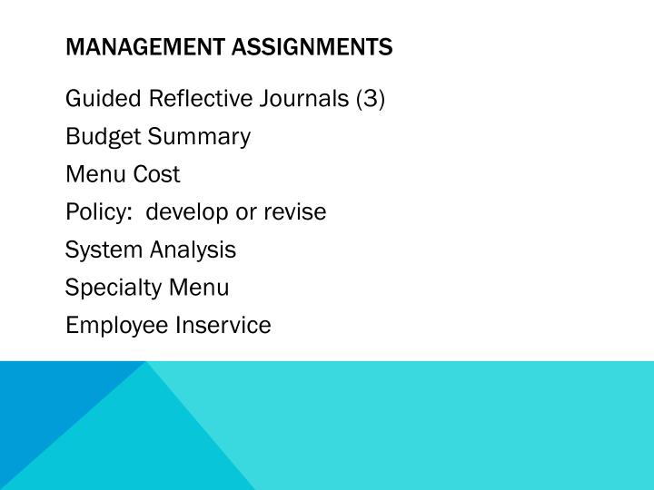 Management Assignments