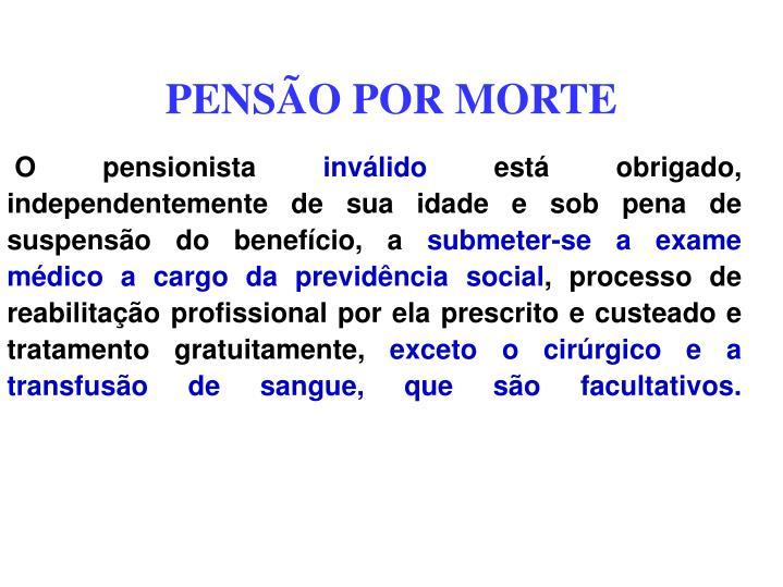 PENSÃO POR MORTE