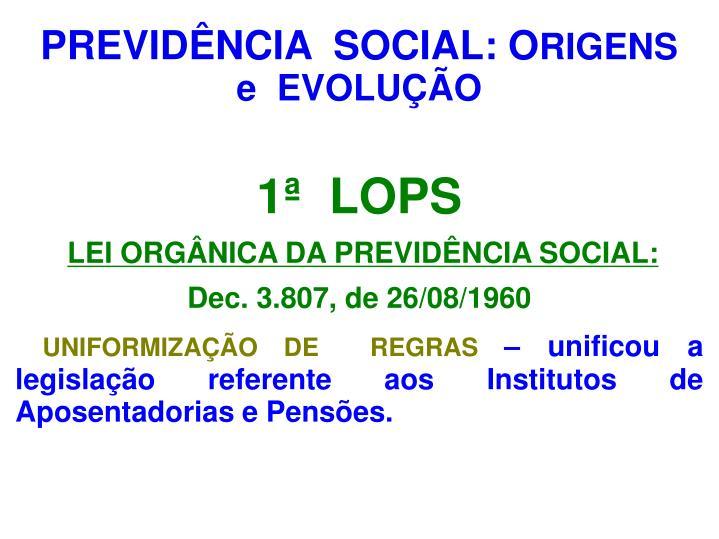 PREVIDÊNCIA  SOCIAL: O