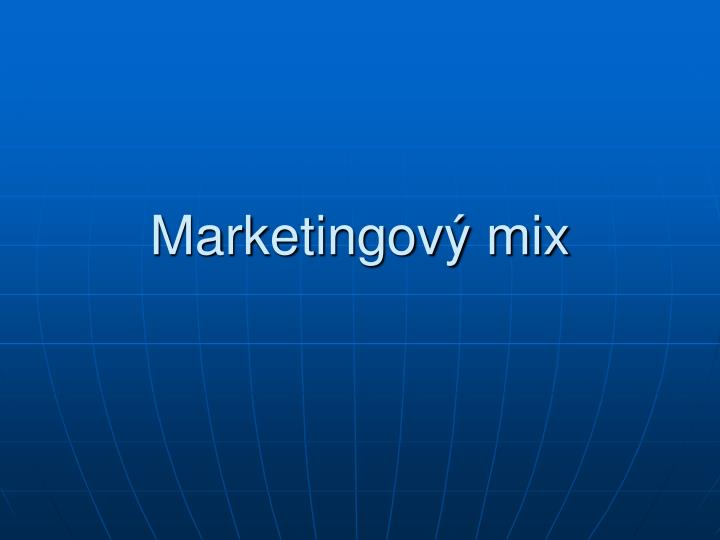 Marketingov mix