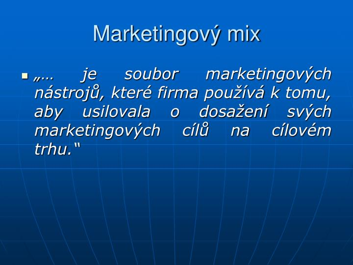 Marketingový mix