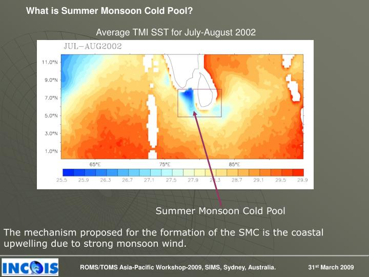 What is Summer Monsoon Cold Pool?