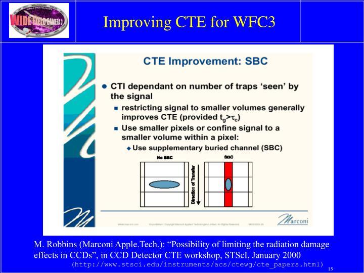 Improving CTE for WFC3