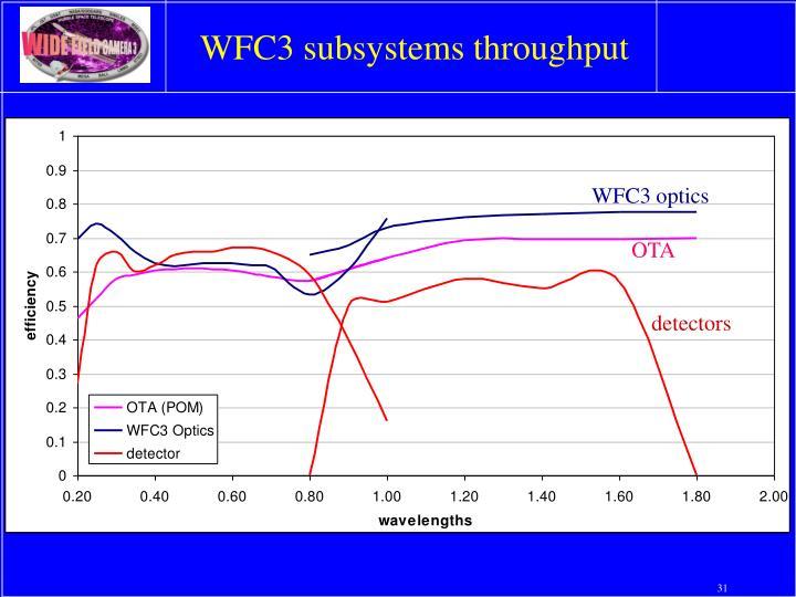 WFC3 subsystems throughput