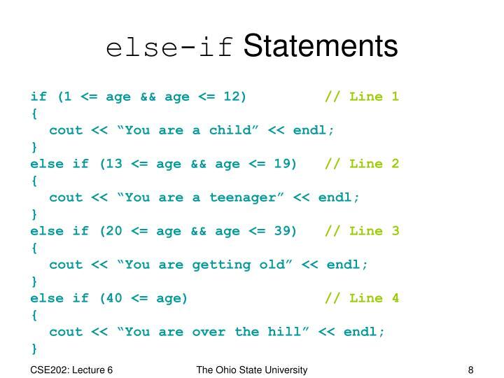 else-if