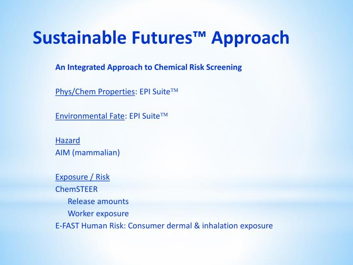 Sustainable futures approach