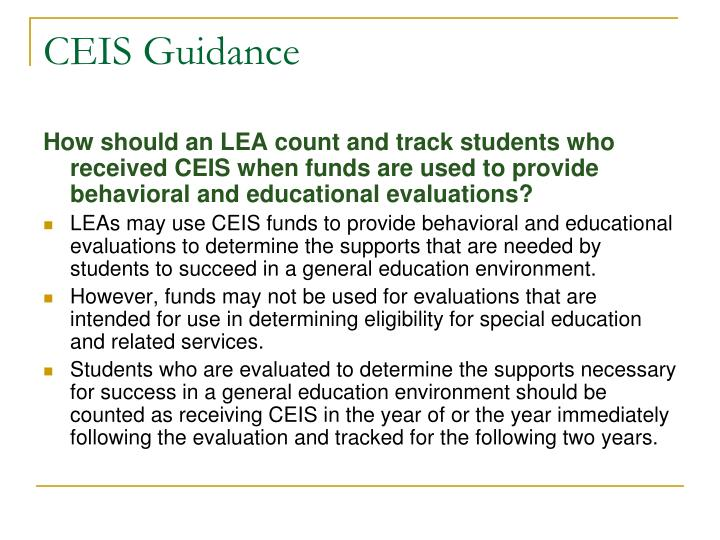 CEIS Guidance