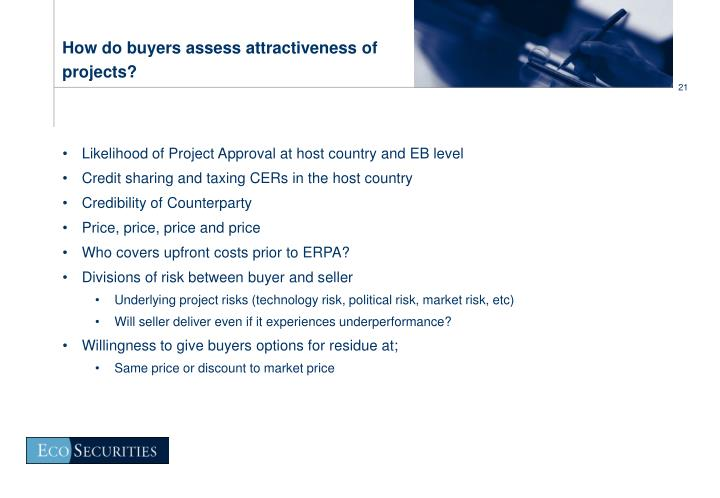 How do buyers assess attractiveness of