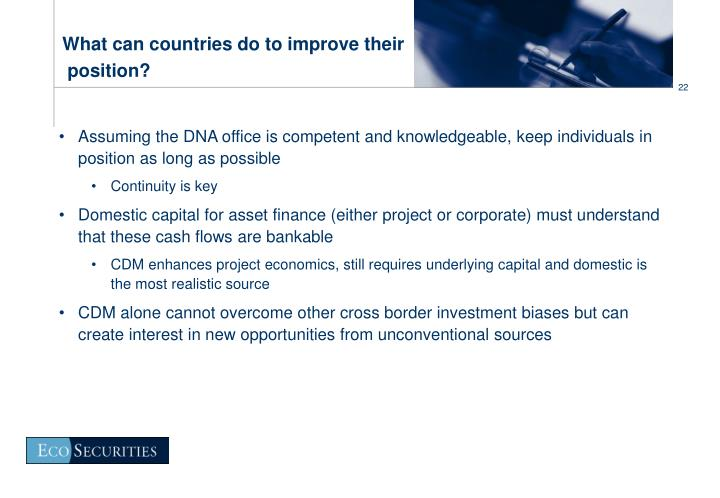 What can countries do to improve their